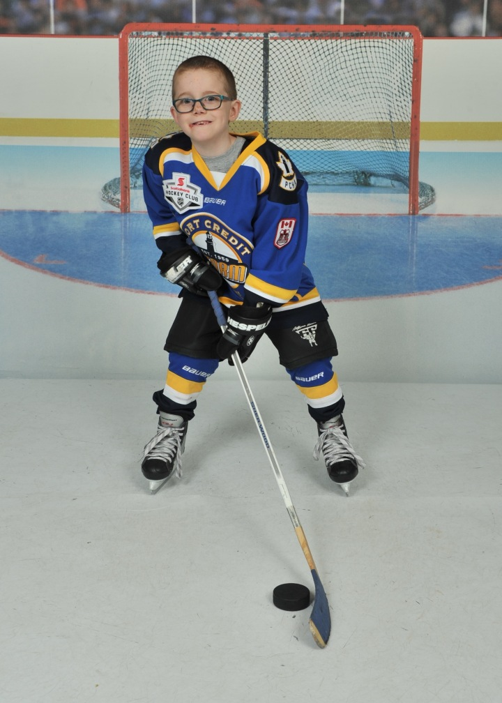 Aiden's hockey pic from the year