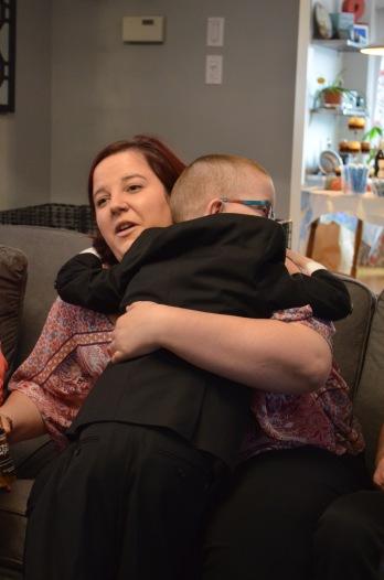 Aiden hugging Shalaine