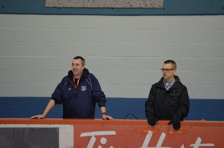 Peter coaching at one of the games during the regular season