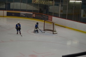 Aiden getting a chance to play goalie