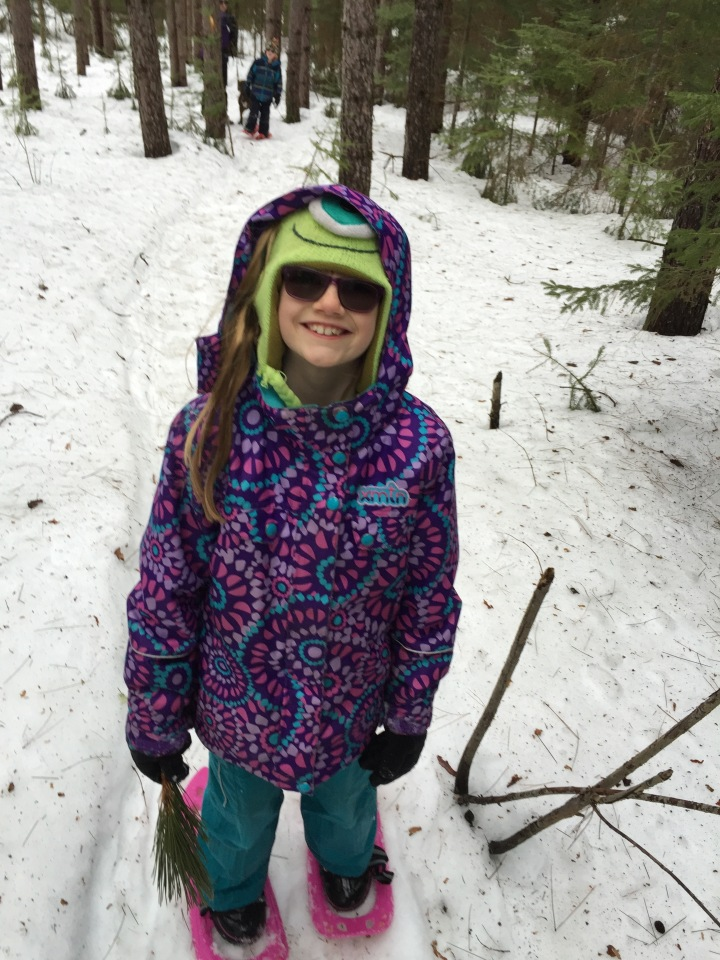 Abby on the snowshoe trails