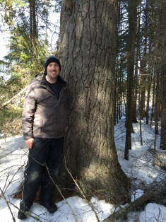 Peter in front of Old White Pine