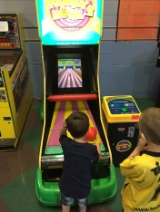 Macklan & Aiden playing bowling game