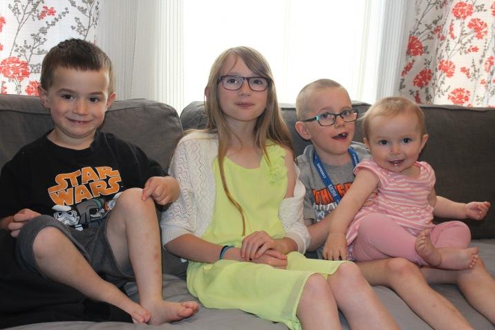 L-R: Macklan, Abby, Aiden & Eva