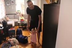 Uncle Peter helping Eva walk