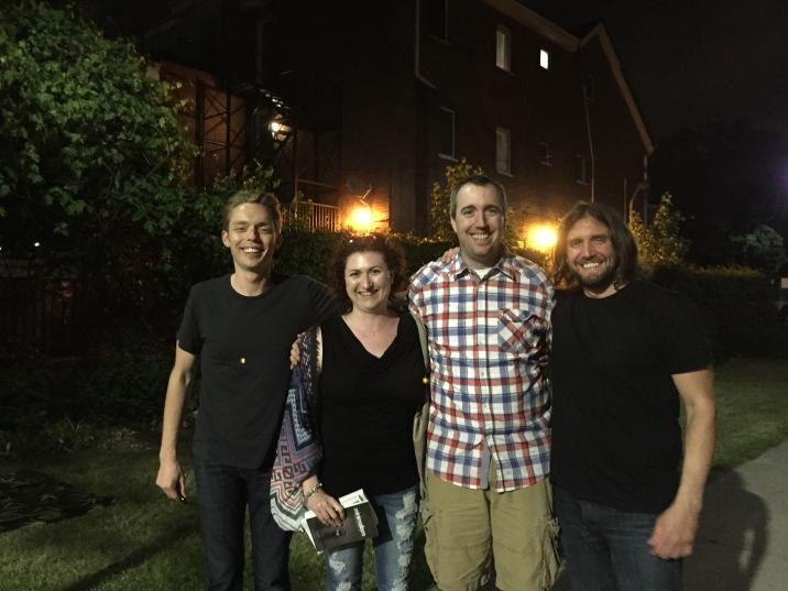 L-R: Joshua Fields Millburn, Melissa, Peter & Ryan Nicodemus
