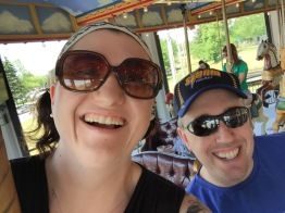 Melissa & Peter selfie on the Merry-Go-Round
