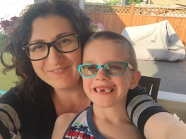 Melissa & Aiden selfie (love those front teeth Aiden!!!)