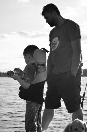 Aiden & Luc fishing