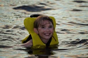 Abby swimming