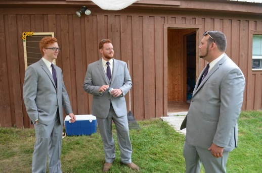 Lucas, Philip & Patrick hanging out before the wedding
