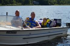 Aaron taking Peter & Aiden tubing