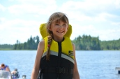 Abby after tubing