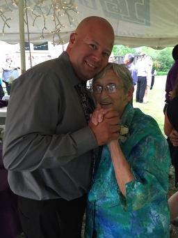 Aaron dancing with his mother Auntie Joyce