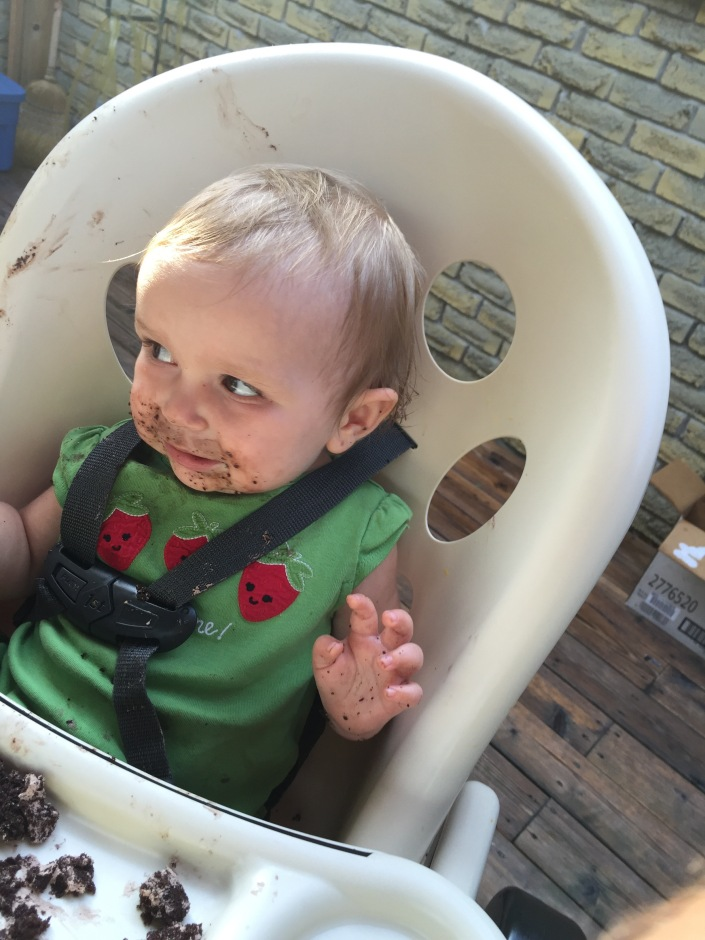 Eva enjoying her cake