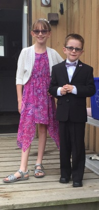 Abby with Aiden before the wedding