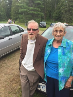 Uncle Al & Auntie Joyce hanging out before the wedding
