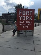 Shauna outside Fort York