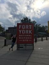 Melissa outside Fort York