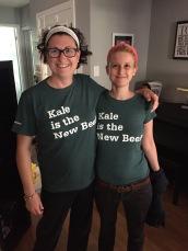 Melissa & Shauna sporting their new t-shirts