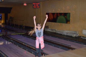 Abby after her turn bowling