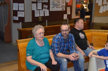 Mom, Rob & Jason watching others take their turns