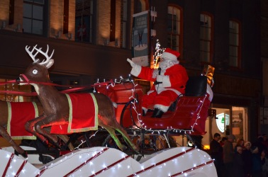 Santa going by