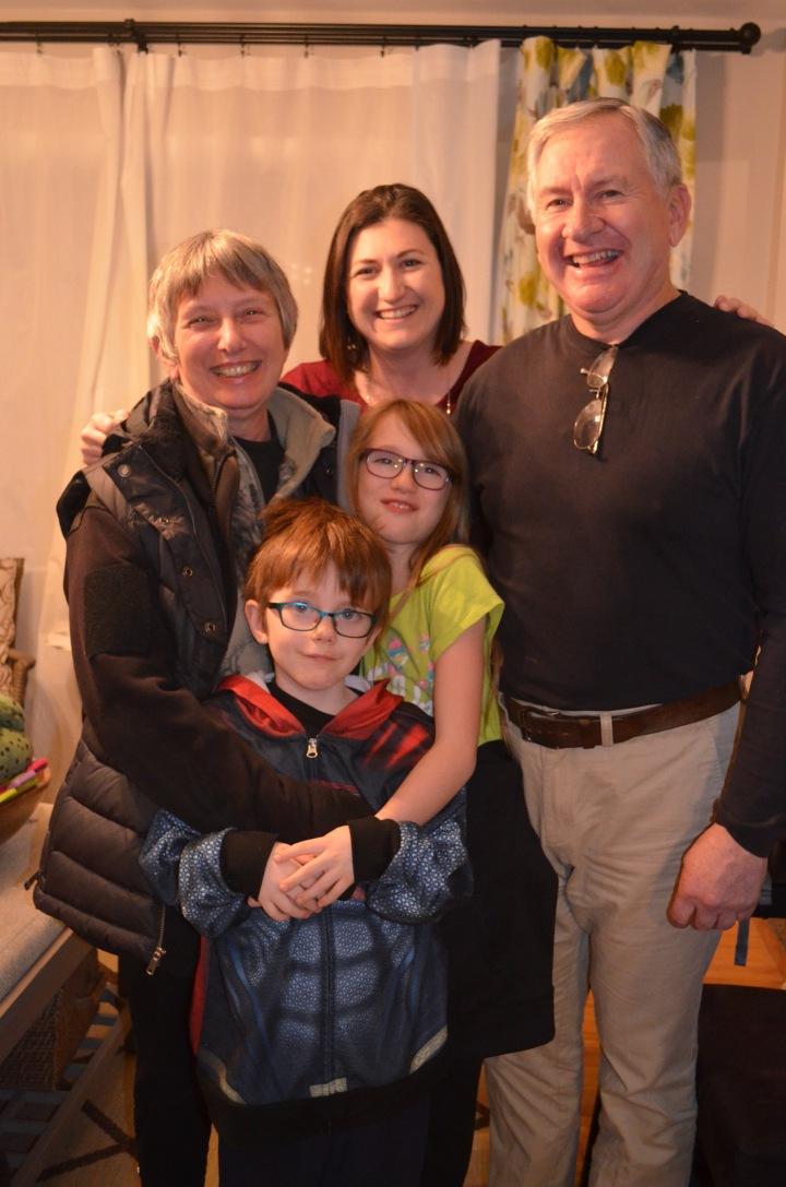 Dinner with Uncle Keith & Auntie Linda (Santa Claus Parade) Dec 2016