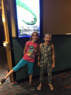 Abby & Ava going to see Pete's Dragon