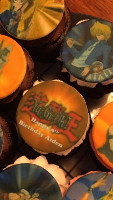 Aiden's birthday cupcake