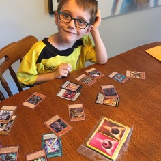 Aiden's new Yu-Gi-Oh & Pokemon Cards