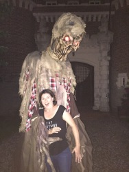 Melissa being hugged by monster