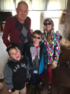 Macklan, Aiden & Abby with their Great Uncle Joe
