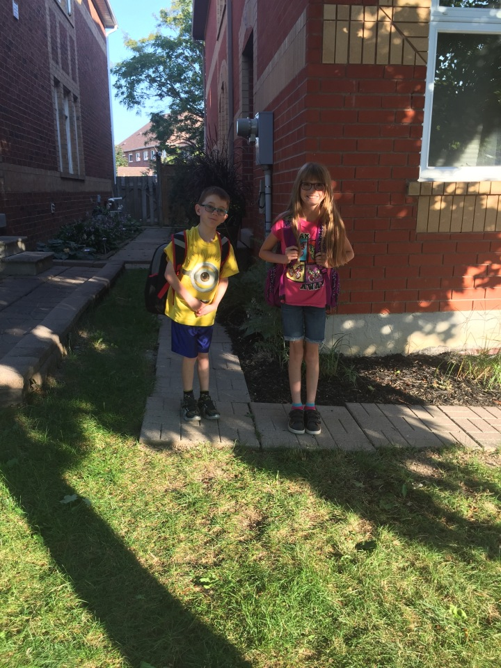 Abby & Aiden ready for the first day