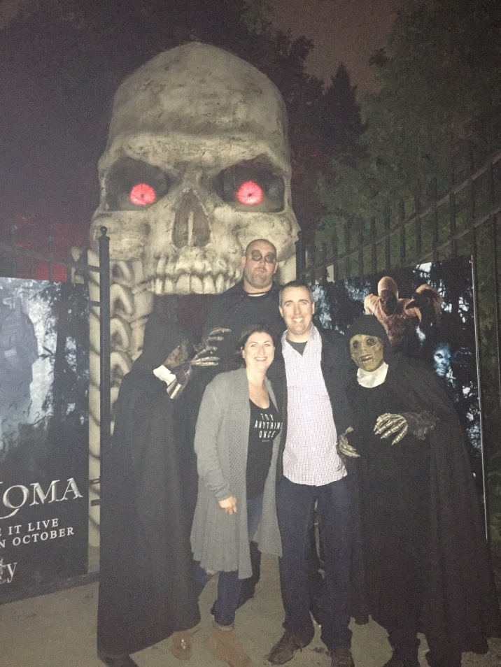 Peter & Melissa @ entrance of Legends of Horror