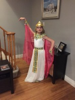 Abby in her Queen of Egypt costume