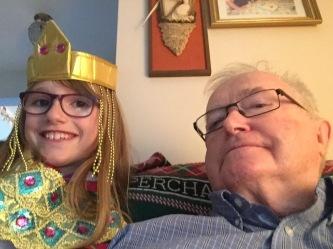 Abby & Papa selfie