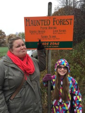 Auntie Megan & Abby @ the Haunted Forest @ the Pumpkin Farm