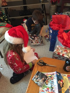 Abby & Aiden opening up Christmas Presents on Christmas morning