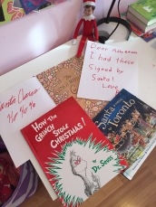 Getting Santa's autograph on some of our favourite books