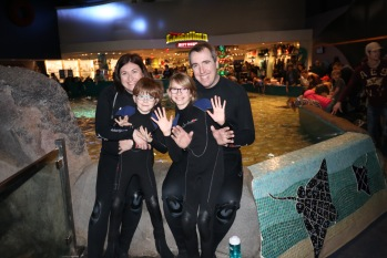 Picture of everyone before getting into the water