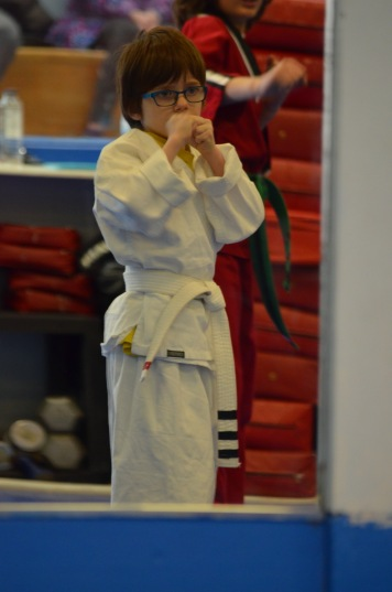 Aiden in his fighting stance
