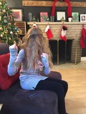 Abby pretending to be Chewbacca