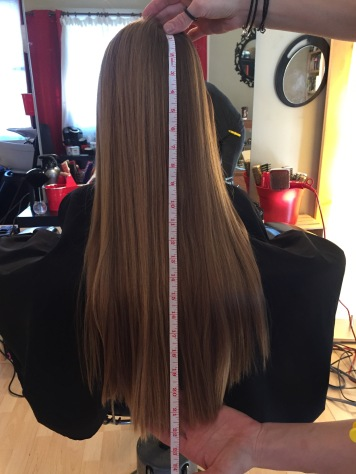 Measurement of Abby's hair.