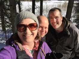 Melissa, Aaron & Peter selfie taken along the old highway