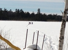 Aaron, Melissa, Peter, Marley & Lindy returning from 3hr snowshoe