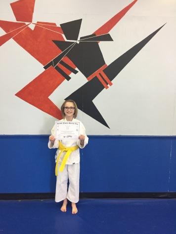 Abby's Yellow Belt Grading_Mar 5 2017