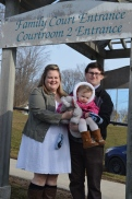 Megan, Shawn and Violet after the adoption was finalized.