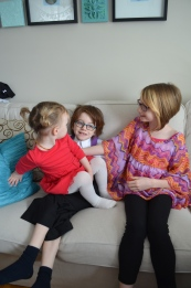 Violet with her cousins, Aiden & Abby