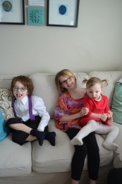 Violet with her cousins Aiden & Abby.